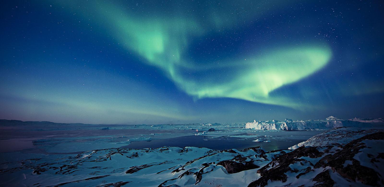 Sarkvidéki tavasz és az aranyló napfény Grönlandon