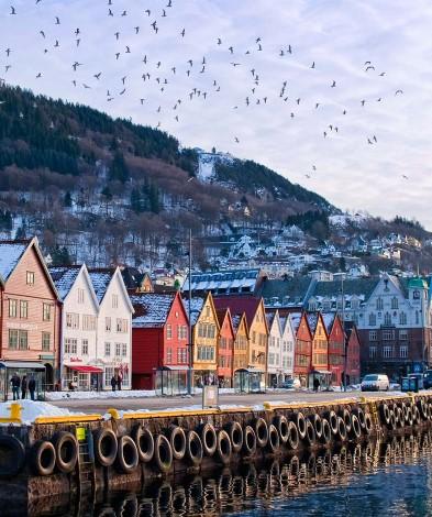 7 kép, negyedik nap Bryggen